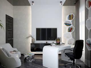 Minimalistische Arbeitszimmer von Студия интерьерного дизайна happy.design Minimalistisch