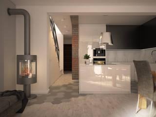 Nevi Studio Cocinas de estilo escandinavo Blanco