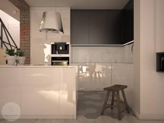 Nevi Studio Cocinas de estilo escandinavo Negro