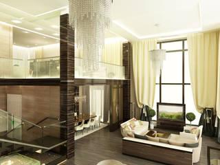 Жилой дом с бассейном 1400 кв.м.: Гостиная в . Автор – LEO Company