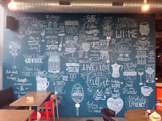 scritte su muro BAR/RISTORANTE:  in stile  di Alice