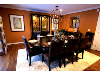 Lux Dining Room:   by Kay rasoletti Interior Design