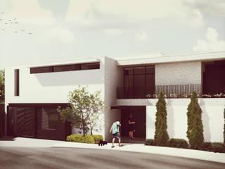 Estudio Volante Casas de estilo minimalista Piedra Blanco