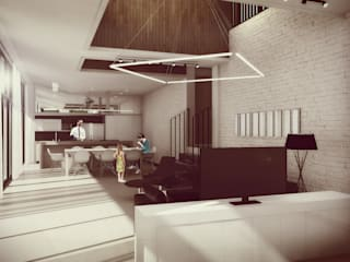 Salones de estilo minimalista de Estudio Volante Minimalista