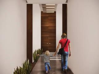Estudio Volante Pasillos, vestíbulos y escaleras de estilo moderno Mármol Blanco