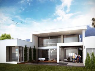 Estudio Volante Casas modernas Blanco