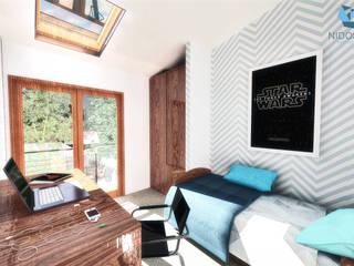 Chambre moderne par NidoSur Arquitectos - Valdivia Moderne