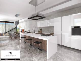 RESIDENCIA TF: Cocinas de estilo moderno por TREVINO.CHABRAND | Architectural Studio