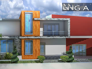 Casa A+: Casas de estilo  por Grupo GANA, C.A.