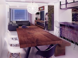 Loft Mil3 [León, Gto]: Comedores de estilo  por 3C Arquitectos S.A. de C.V.