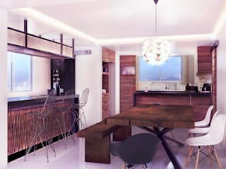 Loft Mil3 [León, Gto]: Cavas de estilo  por 3C Arquitectos S.A. de C.V.