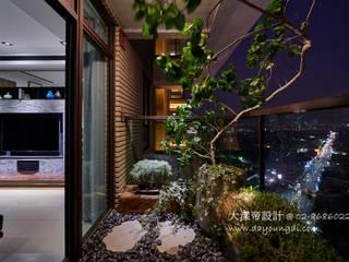 禪意禪繞.麗寶雙璽:  庭院 by DYD INTERIOR大漾帝國際室內裝修有限公司