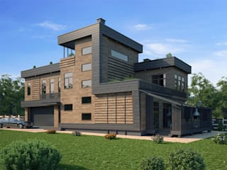 Норден_461 кв.м (с дизайн-проектом): Дома в . Автор – Vesco Construction