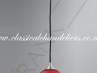 Pendant Lighting Classical Chandeliers SalasIluminación Metal Rojo
