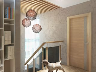 Minimalist corridor, hallway & stairs by Your royal design Minimalist