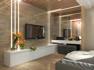 Your royal design Minimalist bedroom Wood effect