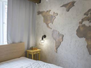 Смелый лофт для Надежды Спальня в стиле лофт от АртЭрия Лофт