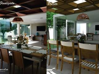 Projeto residencial interiores: Formiga - MG:   por Elessandra Arquitetura