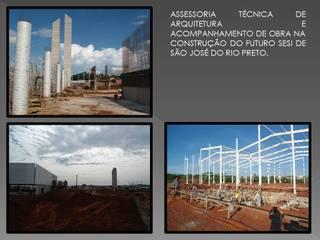 Gerenciamento de obra Casas modernas por Adrieli Santos Arquiteura Moderno
