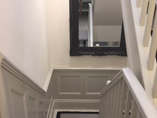 wall panelling ideas for all rooms in the home Classic style corridor, hallway and stairs by The UK's Leading Wall Panelling Experts Team Classic