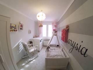 Białe łóżeczko i komoda z przewijakiem MAMAIPAPA od Jedynak Babywelt Śródziemnomorski