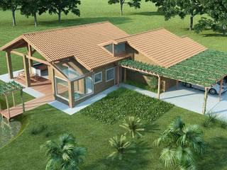 Residencial Piratininga/SP: Casas  por Santos e Delgado Arquitetura e Construções