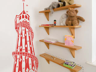 Retro Helter Skelter Kids Height Chart:   by Inkmill Vinyl