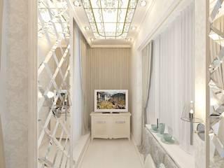 Дизайн проект (ЖК Центральный) Балкон и терраса в классическом стиле от Студия дизайна mOOza Классический