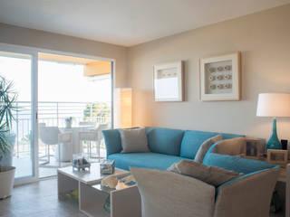 VIVIENDA C46 Salones de estilo mediterráneo de Fran Clausell · Interiorismo Sostenible Mediterráneo