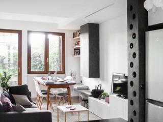 Living room by CAFElab studio, Scandinavian