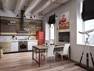 Industrial style kitchen by Дизайн Мира Industrial