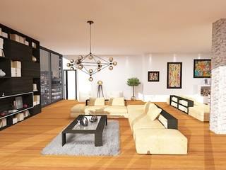 Дизайн проект (Квартира): Гостиная в . Автор – Студия дизайна mOOza