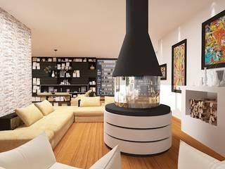 Дизайн проект (Квартира) Гостиная в стиле лофт от Студия дизайна mOOza Лофт