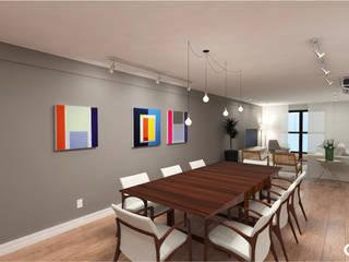 Projeto Alameda Presidente Taunay Salas de jantar modernas por CTRL | arquitetura e design Moderno