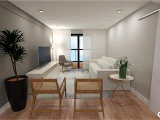Projeto Alameda Presidente Taunay Salas de estar modernas por CTRL | arquitetura e design Moderno
