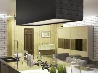 Дизайн проект (Квартира) Кухня в стиле лофт от Студия дизайна mOOza Лофт