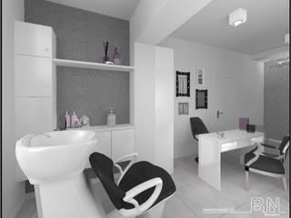 Salon Fryzjersko-Kosmetyczny Czechowice-Dziedzice: styl , w kategorii Kliniki zaprojektowany przez BN STUDIO Barbara Wójcik,