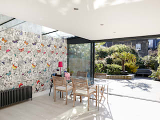 West Hampstead Glazed Extension Modern kitchen by Trombe Ltd Modern