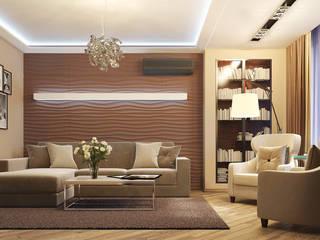 Проект интерьера квартиры. Современный стиль. 100м2. Гостиная в стиле модерн от Vera Rybchenko Модерн