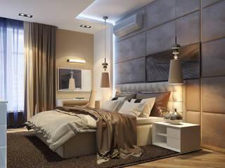 Проект интерьера квартиры. Современный стиль. 100м2. Спальня в стиле модерн от Vera Rybchenko Модерн