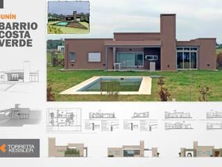 Casa en barrio privado Costaverde I: Casas de estilo  por TORRETTA KESSLER Arquitectos