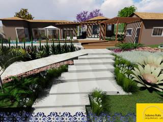 Projeto Arquitetônico e Paisagístico Estar Gourmet C&R: Jardins  por Sabrina Rafa & Isabela Resende