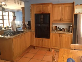 Before: Cooking area and storage.:   by Boss Custom Kitchens (PTY)LTD