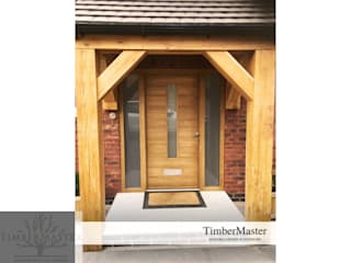 Modern Oak Door In Oak Porch:   by TimberMaster LTD