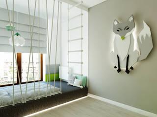 Pokój dziecięcy z liskiem Nowoczesny pokój dziecięcy od living box Nowoczesny
