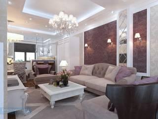 Студия интерьера Дениса Серова Classic style living room Purple/Violet