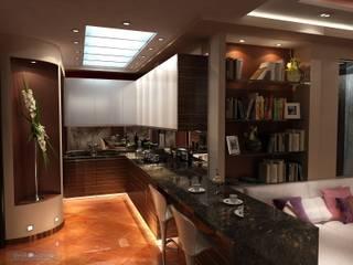 Студия интерьера Дениса Серова Modern kitchen Brown