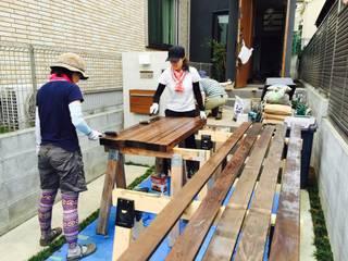 DIY GARDEN PROJECT#1 Shikinowa Design モダンな庭