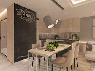 Modern dining room by living box Modern