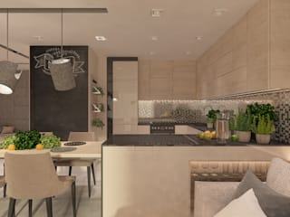 Modern style kitchen by living box Modern